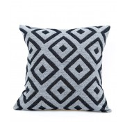 BROADWAY CUSHION BLACK ON CHARCOAL